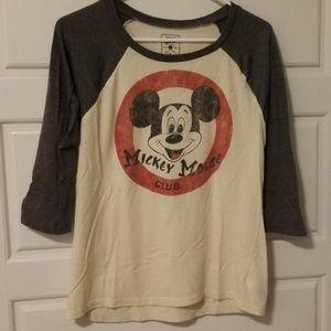 3/4 sleeve Mickey Mouse Club tee